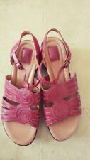 Brand new red leather sandals by Clarks in size 10 medium