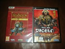 LOT 2 JEUX PC TOTAL WAR SHOGUN 1 ET 2 - VERSION FRANCAISE
