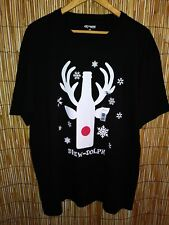 Brew Dolph Christmas by-EXTREME CONCEPTS XXL SHORT SLEEVE BLACK Tee T-Shirt