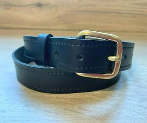 NEW BOYS CHILDS CHILDRENS BLACK REAL LEATHER BELT 25mm SCHOOL WEDDING SUIT New