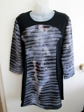 NONI B  size  14  Long Length Black Grey Tone TUNIC TOP....BNWOT'S