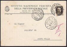 AA4312 Rovigo - Previdenza Sociale Fascista - Cartolina Pubblicitaria - Postcard