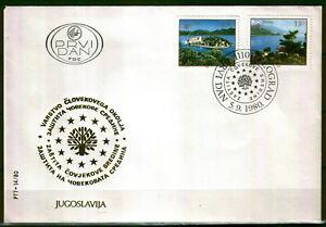 1848- Yugoslavia 1980 - European Nature Protection - Lake - FDC