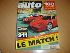 Sport Auto N°509 Ferrari Enzo/Carrera GT/Mercedes SLR
