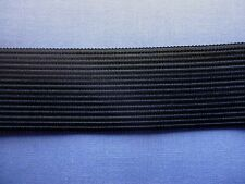 25mm Black Non Roll Knitted Elastic (Firm)