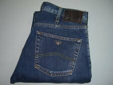 Mens AJ ARMANI 'J21 REGULAR' Blue Denim Jeans W32 L34 Straight Leg