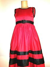 Little Miss dress kids girl size10 red with black square buckle belt nice