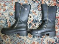 Women's Harley Davidson Black Leather Fashion Motorcycle Riding Boots Size 8.5