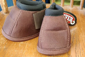 Weaver Ballistic No-Turn Bell Boots Color Chocolate Size Small