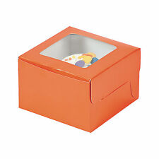 Orange Cupcake Boxes - Party Supplies - 12 Pieces