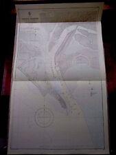 """1966 West PAKISTAN KARACHI Harbour-Mappa nautica mare grafico 28"""" x 46"""" B19"""