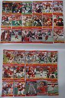 1990 Pro Set Series 1 & 2 Update Kansas City Chiefs Team Set of 33 Football Card