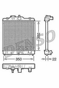 DENSO ENGINE COOLING RADIATOR FOR A HONDA HR-V CLOSED OFF-ROAD VEHICLE 1.6 77KW