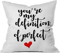 "Cushion Cover Text Printed Pillow Case Bedroom Décor Sofa Home Décor 20/""x20/"""