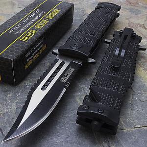 "8.5"" TAC FORCE SPRING OPEN ASSISTED TACTICAL FOLDING POCKET KNIFE EDC Blade"