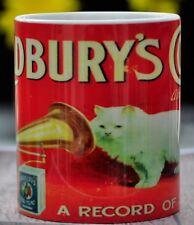 Retro Vintage Cadbury's Cocoa Cat His Master's Voice Cat 11oz Coffee Tea Mug