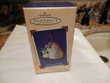 NIB Hallmark Xmas Ornament SAFE & SNUG 2nd in Coll Series Porcelain 2002 Bears