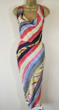 NEW VIVIENNE WESTWOOD VIRGINIA 40 Striped Deconstructed Crepe Party Wiggle Dress