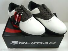 Orlimar Classic Golf Shoes White/Brown/Black Size 8.5  L@@K!    NICE!