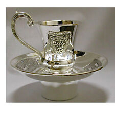 Mayim Achronim Silver Plated with Saucer Grape Design