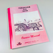 MASSEY FERGUSON TO35 GAS TRACTOR OPERATORS OWNERS MANUAL TO-35
