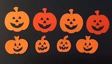 8 Die Cut Sizzix Pumpkins Jack O Lanterns sizes 3-5cm Halloween cardmaking craft