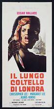 LOCANDINA, IL LUNGO COLTELLO DI LONDRA Circus of Fear, WALLACE, HORROR POSTER C