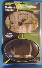 Remington pocket knife Whittler Limited Edition in Mallard Duck gift Tin