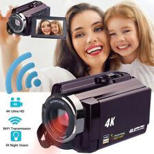 WiFi 4K HD 1080P 48MP 16X ZOOM Digital Video Camera Camcorder DV Night Vision