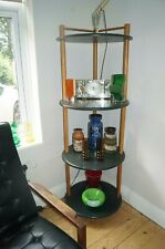 Mid Century Tiered Unit Ladderax Style Danish Retro Corner display cabinet