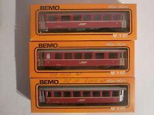 BEMO HOe 3 x Personenwagen der RhB Art.Nr:3057/3058 OVP