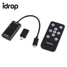 MHL Micro USB to HDMI HDTV Adapter+Remote Control For Samsung Galaxy S2 /S4 / S5