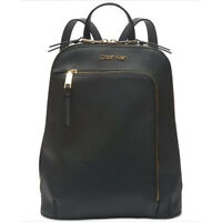 Calvin Klein Hudson Saffiano Leather Backpack  NEW OSFA BLACK