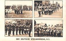1938? RPPC Derr Deutsche Spielmannszug Randalls Island Manhattan NY multi-view