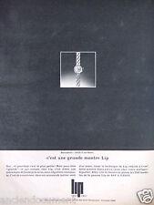 PUBLICITÉ 1967 MONTRE LIP BERNADETTE POUR DAMES - ADVERTISING