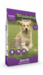 SNEYDS WONDERDOG SPECIAL COMPLETE DOG FOOD 15KG BAG WITH FREE NEXT DAY DELIVERY