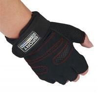 Women Men Weight Lifting Gym Gloves Training Fitness Wrist Wrap Sports Mitten SG