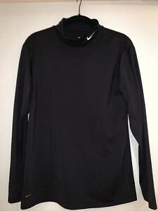 Nike Dri Fit Black Mock T Long Sleeve Shirt Mens Size XXL