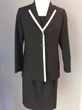 Designer 1*2*3 Un Deux Trois French Styled Blazer Dress Black Size 12-14