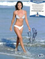 Brooke Burke signed 8x10 photo Wild On Dancing with the Stars Model Beckett