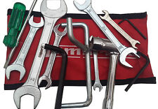 LAMBRETTA HANDY TOOLKIT & RED POUCH 13 PC PROP, PLUG SPANNER, SCREW DRIVER NEW