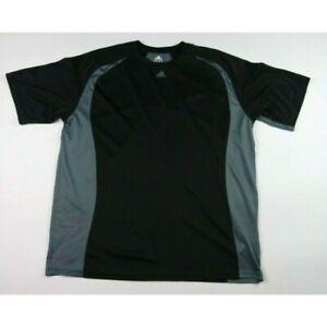 Adidas Men's Shirt Size 2XL Black Gray Short Sleeve Round Neck T-Shirt