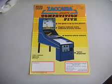 zaccaria COMPETITION FIVE ARCADE GAME  FLYER