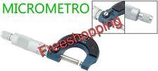 MICROMETRO MICRO METRO CALIBRO SPESSIMETRO 0,01 A 0-25 MM MISURAZIONI