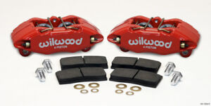 WILWOOD RED DPHA FRONT CALIPER & PAD KIT FOR 1990-2001 ACURA INTEGRA 140-13029-R