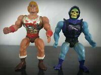 Rare Flying Fists He-Man Battle Armour Skeletor Action Figures MOTU Mattel 80s