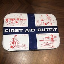 More details for vintage on holiday at play at home medical first aid outfit tin collectable rare