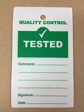 Quality Control QC Tested Plastic Tags - Pack of 10