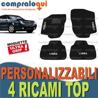 TAPPETI PER LANCIA LYBRA TAPPETINI AUTO SU MISURA IN MOQUETTE + 4 RICAMI TOP
