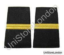 Epaulet Pilot Epaulette Sliders 1 Gold Mylar Bar  Black Cloth R1290